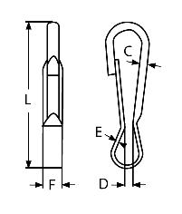 Mousqueton Inox Simple