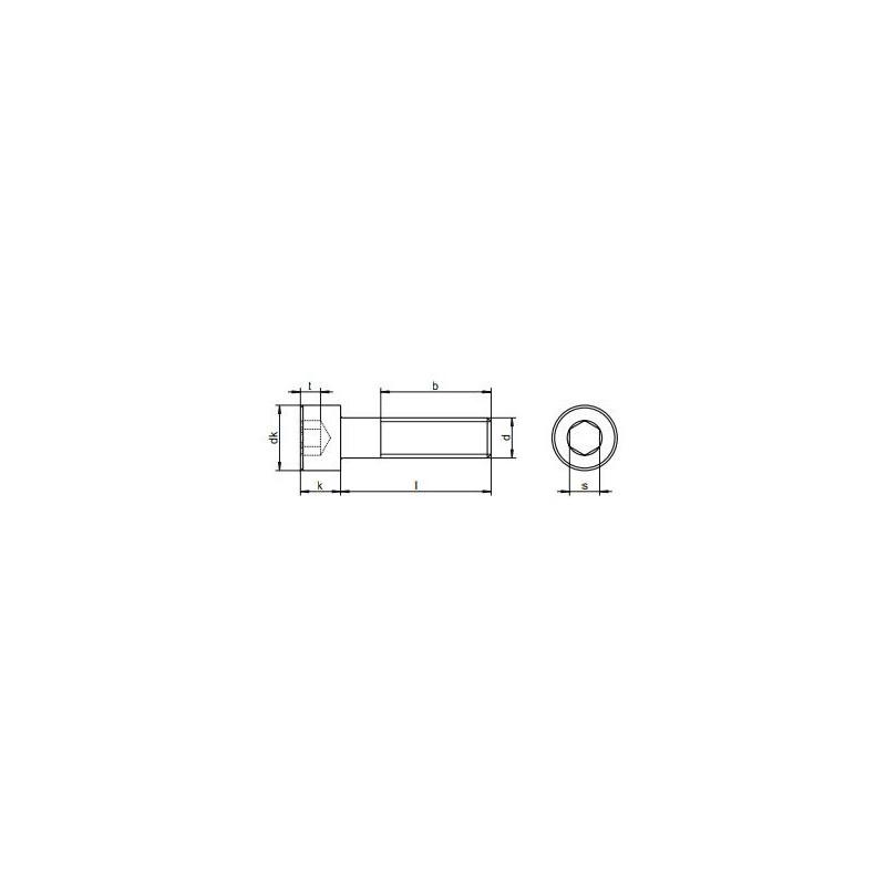 Vis m/étaux CHC-BTR inox A4 marine 6 pans creux cylindrique 4mmx35-4 pcs