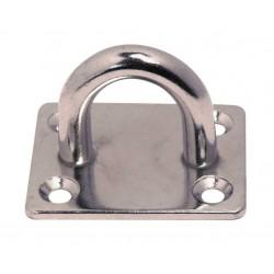 Pontet inox sur platine rectangulaire, embouti et soudé, Inox A2 / AISI 304