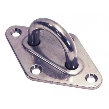 Pontet inox sur platine Losange, embouti et soudé, Inox A2 / AISI 304