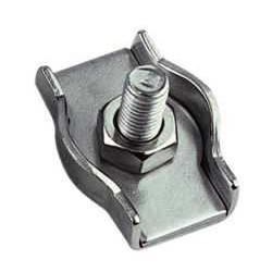 Serre cable plat simplex Inox A4 / 316