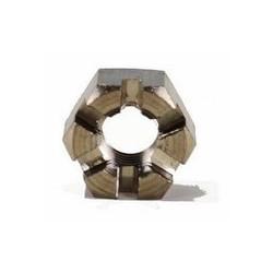 Ecrou hexagonal à créneaux - Hk Inox A2 / AISI 304 - A4 / AISI 316