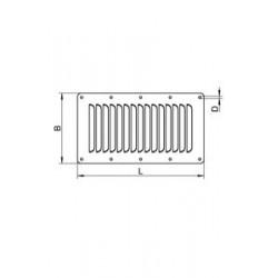 Grille de Ventilation Rectangulaire Inox A2