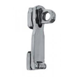 Charnière - cadenas, pièce de fonderie, polie 75 X 25,5 Inox A4 / AISI 316