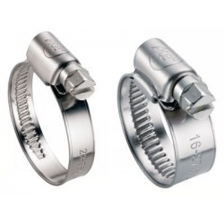 Collier de Serrage Bande de 9 mm ou 12 mm – Inox A2 / AISI 304 et inox A4 / AISI 316