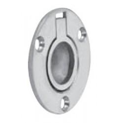 Anneau cuvette ronde, pièce de fonderie, poli, Inox A4 / AISI 316
