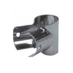 """Fixation en """"T"""" ouvert pour tube, 90° Inox A4 / AISI 316"""