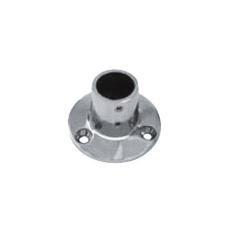 Platine de balcon ronde 90°, pièce de fonderie, polie, Inox A4 / AISI 316