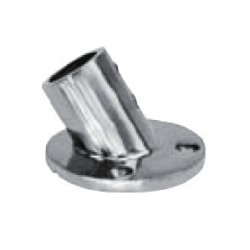 Platine de balcon ronde 60°, pièce de fonderie, polie, Inox A4 / AISI 316