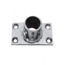 Platine de balcon rect. 90°, pièce de fonderie, polie, Inox A4 / AISI 316