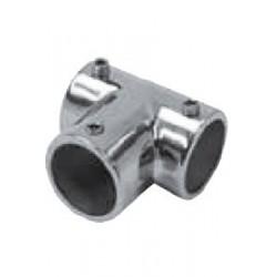 """Fixation en """"T"""" ouvert pour tube, 90°, pièce de fonderie, polie, Inox A4 / AISI 316"""