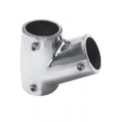 """Fixation en """"T"""" ouvert pour tube, 60°, pièce de fonderie, polie, Inox A4 / AISI 316"""