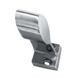 Embout main courante 60°, pièce de fonderie, polie, Inox A4 / AISI 316