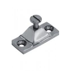 Platine de capote, piece de fonderie, polie, Inox A4 / AISI 316