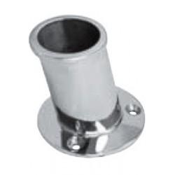 Support de hampe 84°, pièce de fonderie, polie, Inox A4 / AISI 316