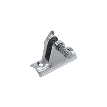 Platine de capote concave, piece de fonderie, polie, Inox A4 / AISI 316