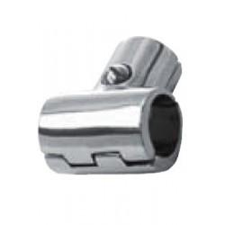 Té 90° avec charnière, pièce de fonderie, poli, Inox A4 / AISI 316