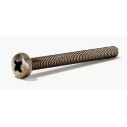 Vis à métaux tête cylindrique large - TCL Pozidrive Inox A2 / AISI 304 - Inox A4 AISI / 316