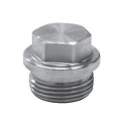 Bouchon avec tête hexagonale à Embase,Filetage Métrique pas fin, Inox A4 / AISI 316