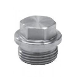Bouchon avec tête hexagonale à Embase,Filet Gaz, Inox A4 / AISI 316