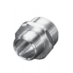 Raccord réducteur mâle/mâle avec hexagone Inox A4 / AISI 316